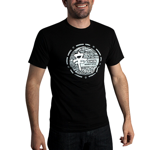 Photo of man wearing Shin T shirt