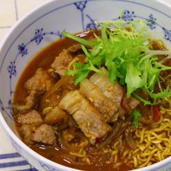 Photo of Shin Ramyun with Soybean paste pork belly